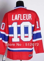Montreal #10 Guy Lafleur Men's Authentic Throwback Home Red Hockey Jersey