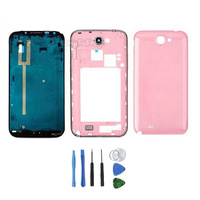 Original Replacement Parts For Samsung Galaxy Note 2 II N7100 Black Full Housing Case cover PINK  for Repairing