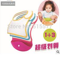 Portable detachable bib The baby bib waterproof stereo bib sent three replace cloth for dinner