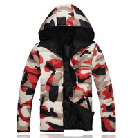 Winter mans coats Camouflage cotton-padded clothes Thick hoodies jacket for mens Warm Drop shipping New 2014 Autumn