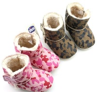 Free shipping cute  infant Girls/boys Toddler shoes baby camouflage winter boots New Keep Warm