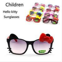 Wholesale Retail Fashion Cute Cat Children Hello kitty Sunglasses Girls Boys Party Eyewear Free Shipping