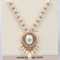 Costume Jewelry Imitation Pearl with Tassel and Pearl Beads Chain Pendant Necklace Wholesale Luxury for Women KN14