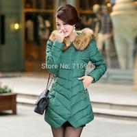 Hot Sales winter duck down jacket women long sections cusp Europe station fur collar down jacket Plus Size winter coat