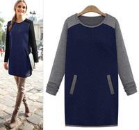 European Dress Fall Winter Long sleeve 2014 Runway Dress Women's High Quality Dresses Designers Brand Dress Autumn Fall qn10