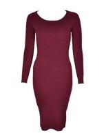 Swedish Brand Gina Knit Stretch Sweater Dress, 6 Colors, XS-L