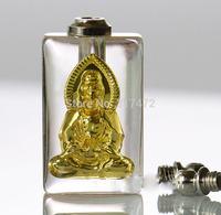 "wholesale 50pcs/lot Gold ""Goddess of mercy"" glass vial pendant rice art pendant  DIY"