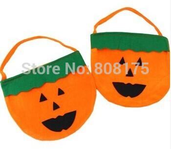 Halloween Pumpkin bag bag decoration supplies children pumpkin pumpkin candy bag(China (Mainland))
