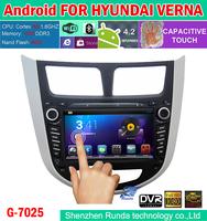 2014 Capacitive Screen Pure Android PC 4.2 Car DVD For Hyundai Solaris Verna Accent GPS Cortex A9 Dual Core 1.6Ghz RAM 1GB