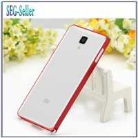 Hot!!100% Quality XIAOMI 4 MI4 Case Metal Frame Cover for XIAOMI MI4 M4 Mobile phone case + gift Screen Protector