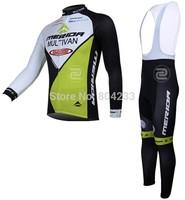 Free Shipping!2014 men's sports racing MERIDA athletic long sleeve Cycling jersey Quick Bike clothes bib Shorts sets ciclismo