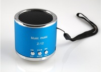 DHL / EMS 100 pcs Mini Speaker Z-12 Kaidae With FM Support Micro TF Card Portable Multimedia Multicolour Good Quality