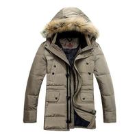 2014 Men's Down jacket With Hood 90% Duck Down Winter Overcoat Plus Size Outwear Winter Coat Free Shipping D40