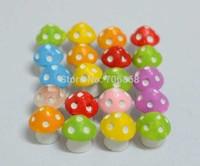 artificial creative resin mini waterproof mushroom crafts&gift decoration