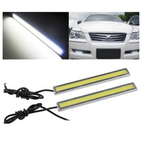 2x Super Bright COB White Car LED Lights For DRL Fog Driving Lamp Waterproof Free Shipping S5V
