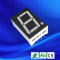 Promotion!!! factory supply all single color ultra white led 0.56 inch 7 segment led display 1 digit
