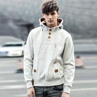 Hooded wool fleece for man Hoodies sweatshirts Men's coats Pullovers Add wool upset Fashionable Drop shipping New 2014 Winter