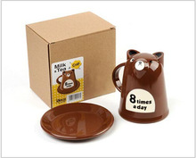 The Large Cartoon Bear Breakfast Cup Of Tea Withstand High Temperature Strange New Cup Creative Mugs