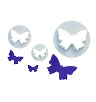 Plastic butterfly cake cutter,high quality cake tools