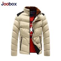 JOOBOX brand Men's Outerwear Coats men's Fashion Cotton Coats,New Arrival Mens winter outerdoor Coats for 3 Color