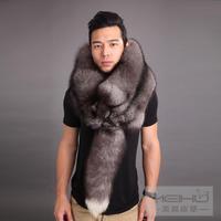 Fox skin muffler scarf fox scarf fur fox fur scarf muffler scarf cape silver blue