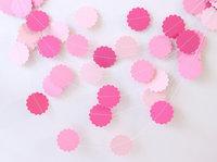12 Feets Wedding  Valentine Pink Paper Garland