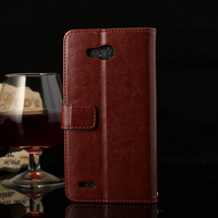 Retail HUAWEI 3X 3 X G750 Wallet Case Flip Leather Case Cover Phone Bag With Card Stand Design Cell Phone Shell Accessories