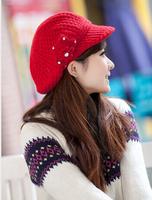 free shipping  NEW Fashion women keep warm Fashion rabbit fur cap More warm autumn/winter wool protective cap YL27