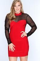 Europe large size 4XL long sleeve Club dresses plus size fat women clothing 3XL sexy dress Dropship XL/XXL/XXXL/XXXXL RYT411