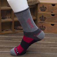 Europe high grade cotton basketball sports althletic socks for men