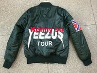 2014 new hip hop kanye west yeezus mens Long-sleeve jacket coat in Army green