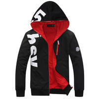 Free shipping ! 2014 New Winter Fashion Men's Hoodies Napping Casual Men's Sweatshirts Hooded collar men coats  650