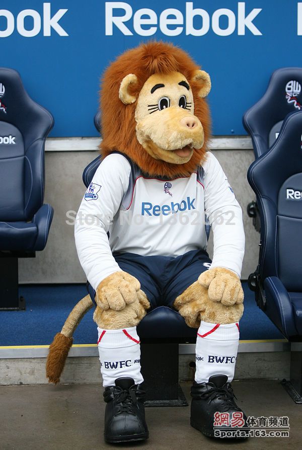 Bolton football team mascot Loftty the Lion mascot FA Premier League mascot without the sport T-shit and pants(China (Mainland))