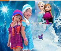 Frozen hat Crochet Hat  Winter Hat,girls Elsa and Anna hat Beanie,Children's Knitted  Christmas birthday gift