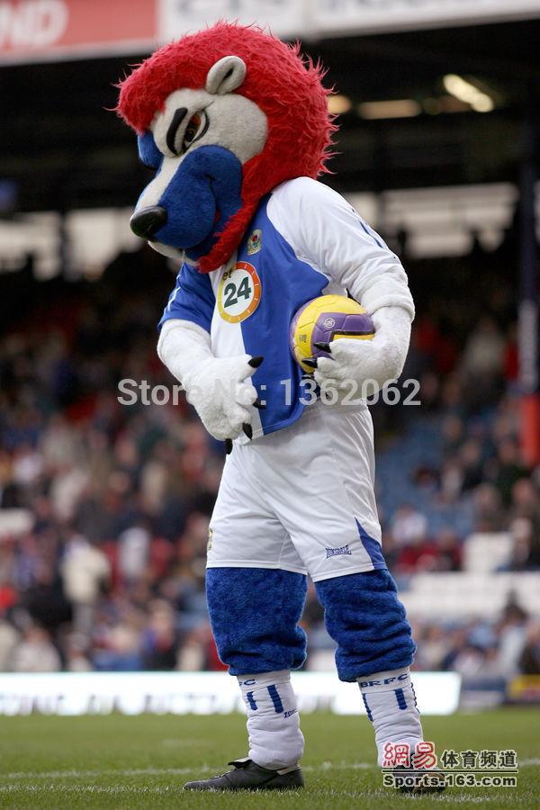 Blackburn Rovers football team mascot Roar Lion mascot FA Premier League mascot without the sport T-shit and pants(China (Mainland))