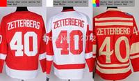 Detroit #40 Henrik Zetterberg Men's Authentic Home Red/Road White/2014 Winter Classic Red Hockey Jersey