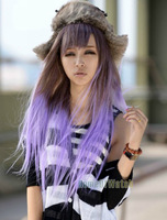 Brown Gradient of Mauve Fashion Lady Lolita Cosplay Wig long Straight Hair wigs (NWG0CP61060-IH2)