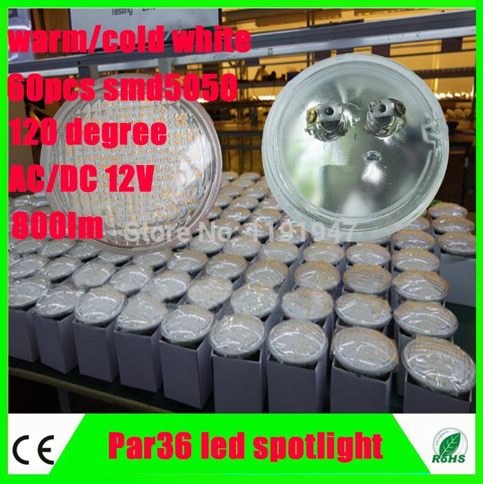 2pcs/lot DC/AC 12V LED Landscape Lighting PAR36 led 8W PAR 36 Lamp 60pcs SMD5050 waterproof IP65 120D beam angle Free shipping(China (Mainland))