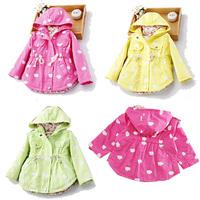 Girls Hoodies Girls Jackets Outerwear & Coats Children's Coat Spring Autumn Baby Coat Girls Kids Coat Free Shipping CWT01