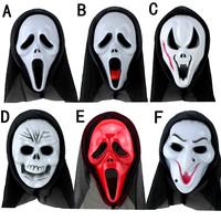 Mix order 6pcs/lot Hallowmas Mask Costume Ball Masquerade Party Masks Persecute Terrorist Monolithic Devil Masks Scary Mask 45g