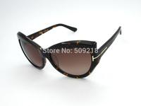Free shipping new 1:1 all-match brand women's big box sunglasses TF0284 Cat eye Sunglasses