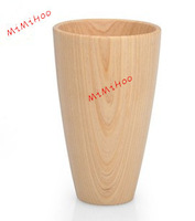 free  shipping  Factory Wholesale Eco-Friendly no paint frosted retro 250ml volume fir wood milk cupwood   coffee cup