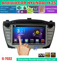 "2014 HD 7"" Car Pure Android 4.2 3G WiFi Auto Stereo DVD GPS TV For Hyundai Tucson IX35  WiFi Dongle Hyundai CanBus"