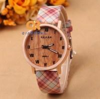 2014 Hot Fashion Women Watches gird Leather Strap casual Watch quartz military wristwatch waterproof ladies dress watch F45-M069