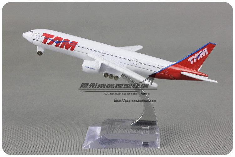 Tam boeing b777 alloy metal model 16cm(China (Mainland))