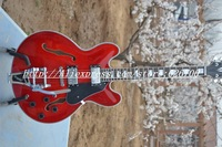 2012 new arrival +Free Shipping+New built + Limited Run ES335 Electric Guitar Transparent Red finished