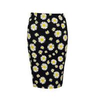 2014 Cute Floral Stretch Skinny Knee Length Skirt
