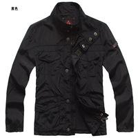 free shipping stand collar man navy blue four pocket autumn cool jacket europen style jacket