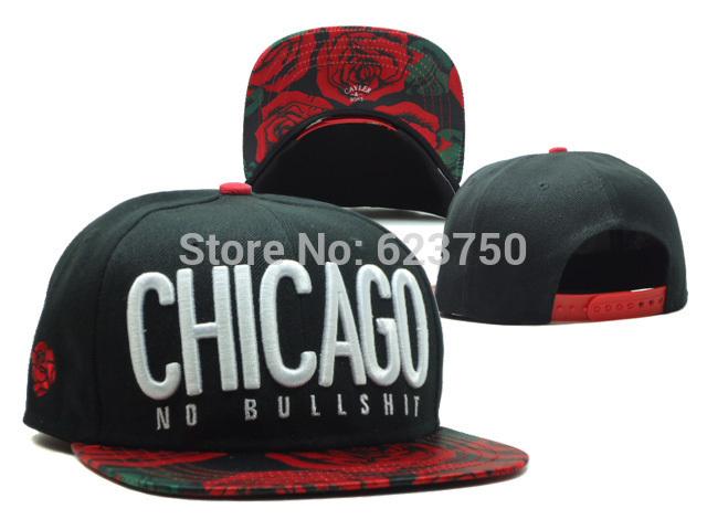 nova chegada 2014 cayler& filhos chicago snapback chapéus preto não besteira marca barata mulheres homens hip hop costas snap bonés de beisebol(China (Mainland))
