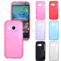 200pcs/Lot TPU S  Line GEL Case Cover for  HTC ONE 2 M8 Mini